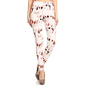 R905-OS Butterscotch Print Fashion Leggings