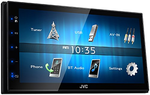 JVC KW-M24BT WVGA Digital Media Receiver mit Bluetoothmodul, 17,3 cm schwarz