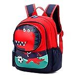 Uniyoung Mochila para niños con dinosaurios, mochila de viaje de 3 a 6 años