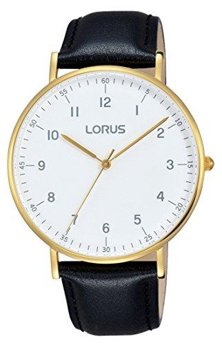 Pulsar Herren Analog Quarz Uhr mit Leder Armband RH896BX9