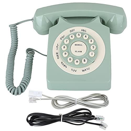 LYQQQQ Teléfono Antiguo Antiguo de la Vendimia Teléfono Fijo de la línea Fija de la línea Fija de la Oficina para el hogar de la Oficina del hogar del Hotel Retro del Hotel (Color : Green)