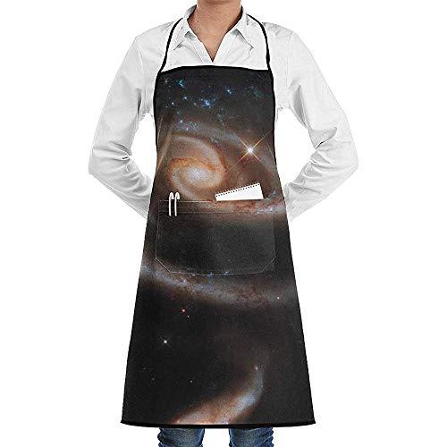 Reredith Sterne Trichter Spirale Cluster Space Galaxy Universe Astronomie Kochschürze mit Tasche Unisex Geeignet für Küchenchef