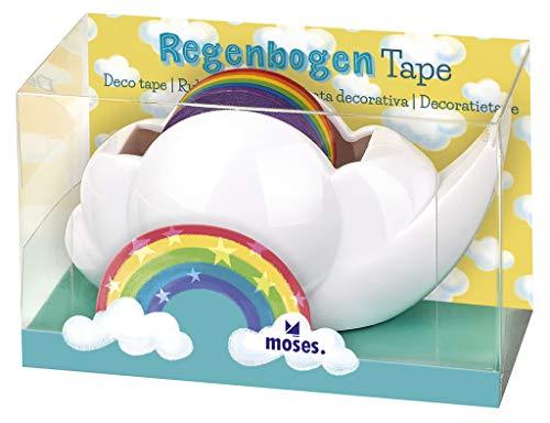 moses 26181 – Cinta Adhesiva Decorativa con diseño de arcoíris,