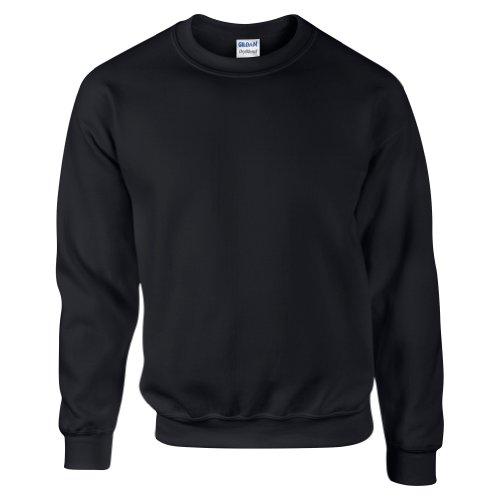 Gildan DryBlend Sweatshirt/Pullover mit Rundhalsausschnitt (L) (Schwarz)
