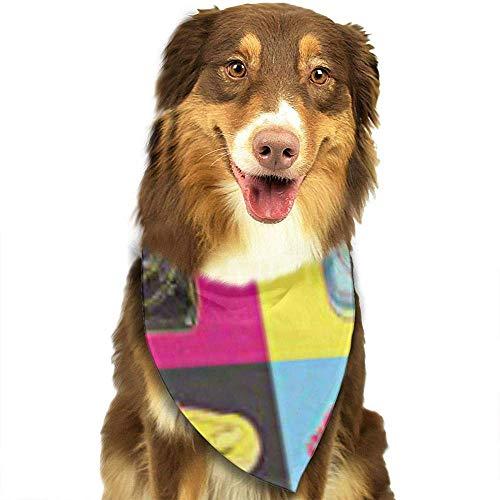 YAGEAD Pañuelo para Perros Cachorro y pañuelos para Mascotas, Colorido Warhol Pop Teléfono Andy Funky Cool Pattern Popart Pet Scarf