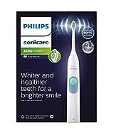 Philips Sonicare DailyClean 3200 Electric Toothbrush, White, Optimal White W2 Brush Head (UK 2-Pin B...