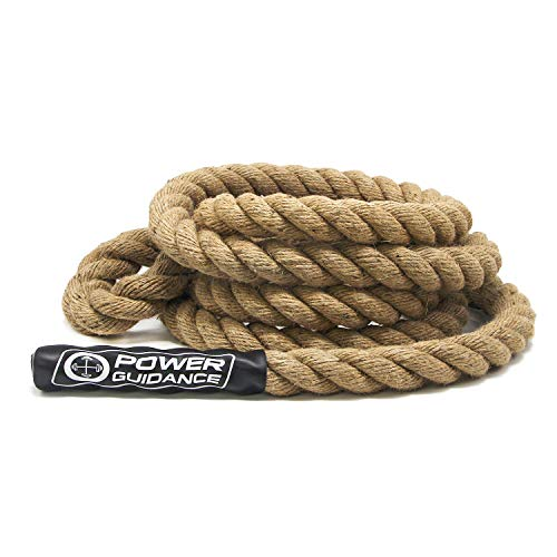 POWER GUIDANCE Climbing Rope, 1.5 Inch in Diameter, No Mounting Bracket Needed, Length Available 8,...