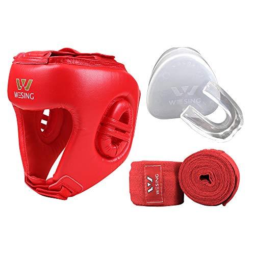 Wesing Boxing - Juego de Accesorios para la Cabeza con Vendas para Las Manos, Protector bucal...