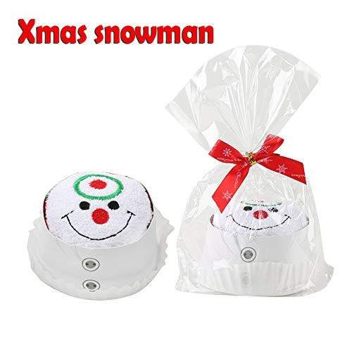 jumpeasy Cartoon Geschenken Sneeuwman Kerst Handdoek Cake Modellering Kerstman Snowman Willekeurig