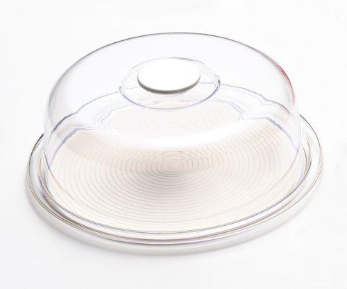 Akebono industry grazioso cappello rotondo per torte, misura grande, 35,5 cm, colore: Trasparente/Bianco (MT - 1190)
