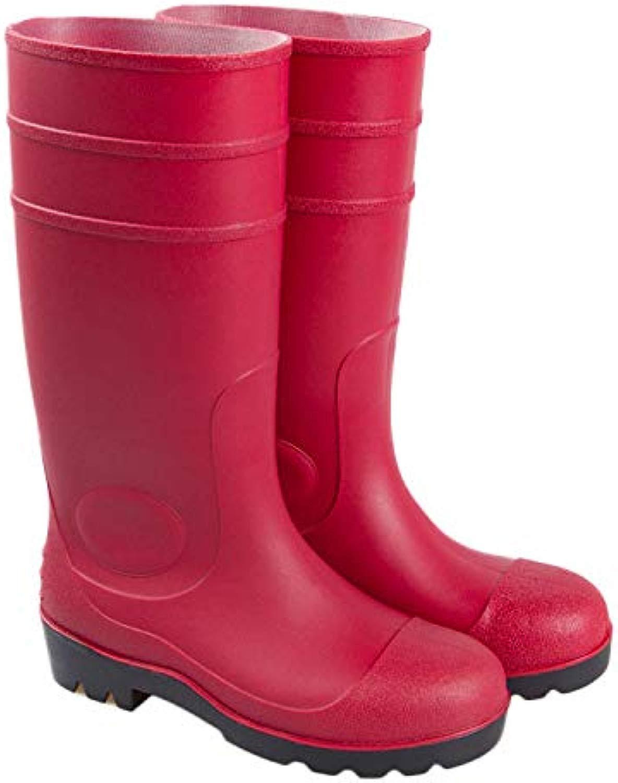 Fengbingl-schuhe Regen Schuhe Regenstiefel verhindern das Zertrümmern der hohen hohen Zylinder-Arbeits-Stiefel Gleitschutzschuh-wasserdichte Schuhe für Damen (Größe   42 2 3 EU)  mit 60% Rabatt