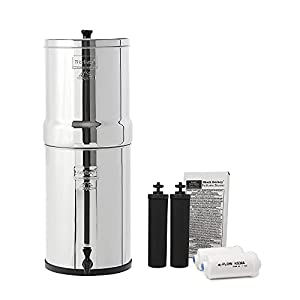 Crown Berkey Water Filter With 2 Black And 2 Pf2 Fluoride Filters Buy Now Scutins100i