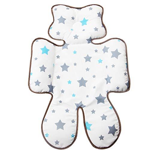 Eyand Bébé confortable Coussin Tête Corps poussette - Soft Poussette bébé siège Liner tête et support Body Pillow Créer soutien pour Tiny Baby In Car Seat, landau, poussette (Star)