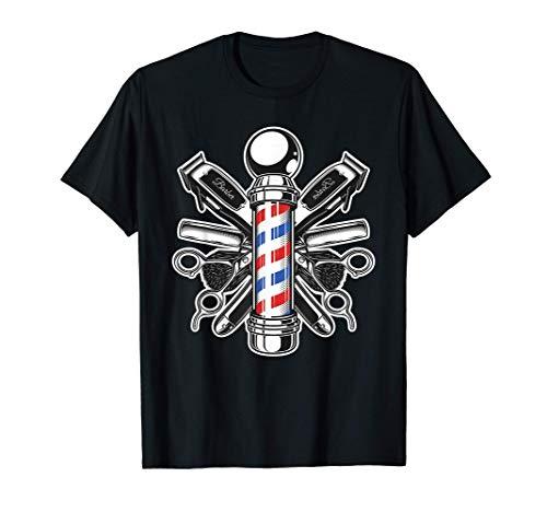 Retro Barber Shop Pole Hair Stylist Camiseta