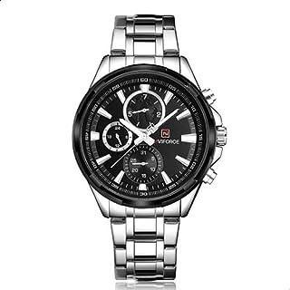 ساعة يد رسمية للرجال من نافي فورس ستانلس ستيل انالوج بعقارب - 9089S S-B