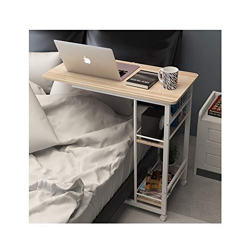 HERVI 80 × 40 × 70 cm Multifunktionaler Computertisch, 2-Lagen-Bücherregal, Beweglicher Schreibtisch (Farbe : C)