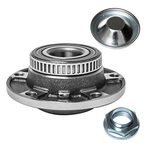 Front Wheel Hub and Bearing Assembly Left or Right Compatible 323Ci 328Ci 318 320i 323 325 328 330Ci 330i 525 530i 535i 535i 540i 735i 735iL 740i 740iL 750iL 840Ci 850 M3 Z3 Z4 AUQDD 513125 [ 5 Lug ]