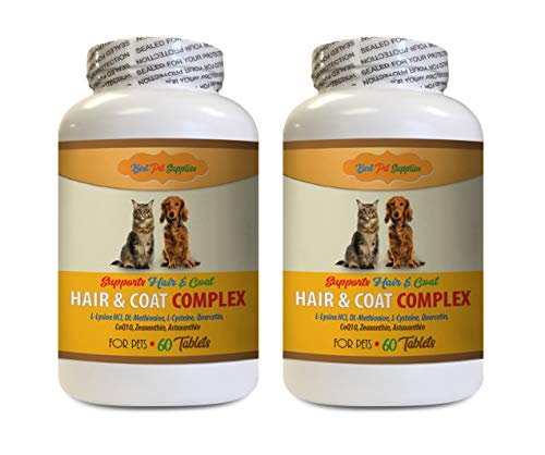 Anti Allergy for Cats - Pets Hair and Coat Complex - Best for Dogs and Cats - Healthy Hair Coat Skin Nails - cat Vitamin b Supplement - 120 Tablets (2 Bottles)