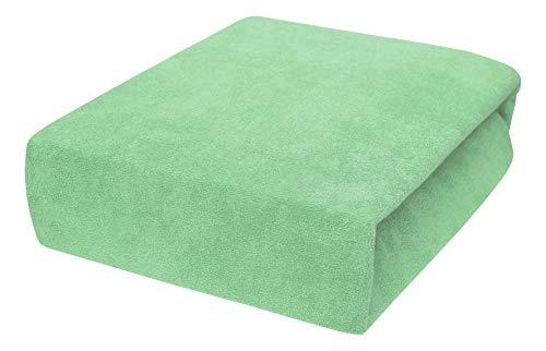 Drap housse avec élastique éponge 90x160, 90x180, 90x200 - 23 Farben 90x180, pois vert
