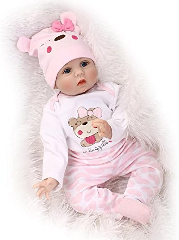 ZIY IUI 22  55 CM Silicone Soft Lifelike Handmade Reborn Baby Doll Baby Doll Vinyl Kids Gift Boy Christmas Xmas Gifts