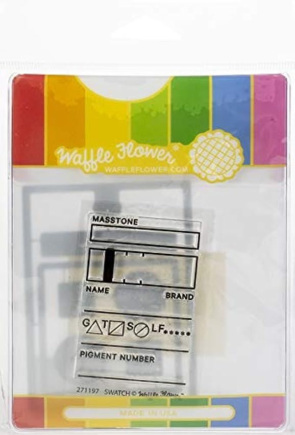 Waffle Flower Crafts WFC197 Waffle Flower Stamp & Die Set-Swatch Tag,