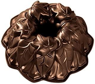 Nordic Ware 85948 Harvest Leaves Bundt Cake Pan, One Size, Bronze