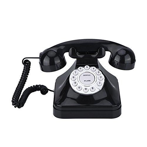 Zunate TeléFono Fijo Retro, TeléFono Vintage con Cable de Los Años 60, TeléFono de Oficina Multifunción, TeléFono CláSico