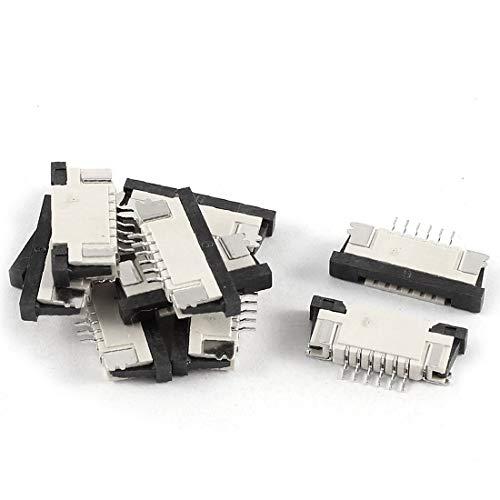 New Lon0167 10Pcs Bottom Destacados Port 6Pin 1.0mm eficacia confiable Pitch FFC FPC Ribbon Sockets Connector(id:42e b5 18 e4f)