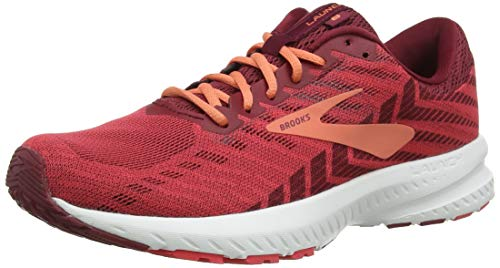 Brooks Womens Launch 6 Running Shoe - Rumba Red/Teaberry/Coral - B - 10.0