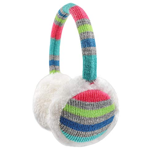 Kinder-Ohrenschützer, gestrickt, für den Winter, Outdoor, Plüsch, Ohrwärmer für Jungen und Mädchen, 4–16 Jahre - - Eine Größe passt meistens