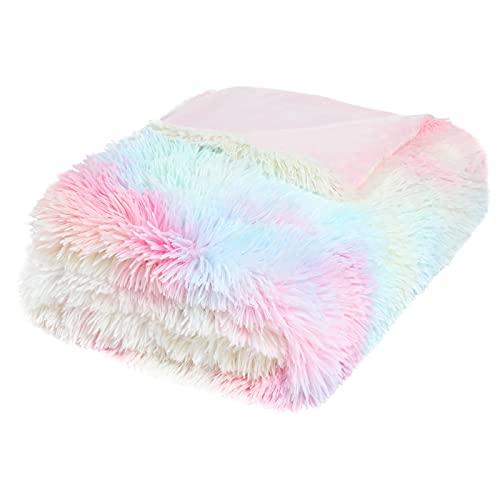 Yoofoss Manta de Microfibra Suave: Manta Polar súper Suave, Manta de sofá, Manta de Cama, Colcha o Manta de Sala de Estar, 130 x 160 cm, Vistoso