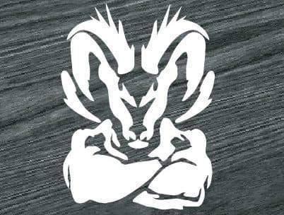 EricauBird Decal-Sticker Dodge Ram Head Muscle Vinyl Window Decal Sticker Wall Art