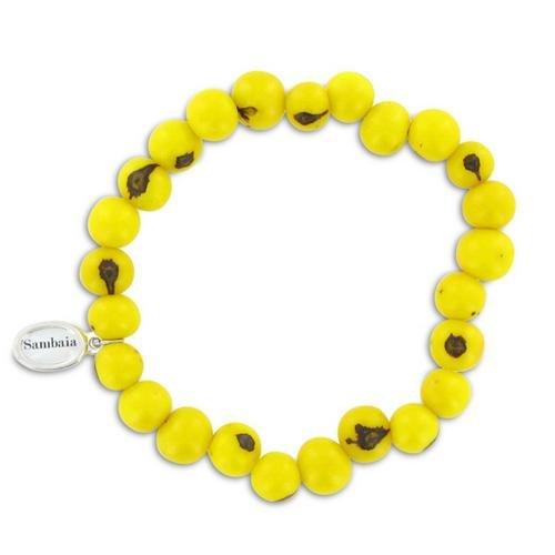 Sambaia Armband aus Acai Samen, in vielen Farben erhältlich, original, gelb