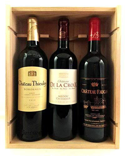 Coffret Grands Vins de Bordeaux - 1 Cru Bourgeois du Médoc 2015 + 1 Cadillac Côtes de Bordeaux 2014 + 1 Bordeaux 2014 !