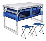 Folding Camping Table Portable Outdoor Aluminum Picnic Tables