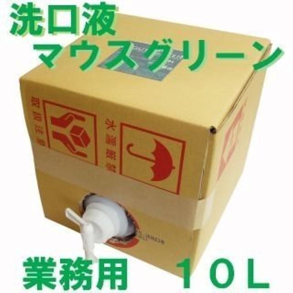 熟した図火山の業務用 口腔化粧品 マウスグリーン洗口液 10L