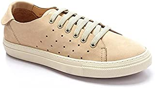 Nubuck Leather Patterned Unisex Sneakers