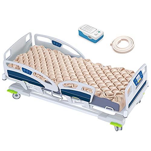 Colchón de aire alternativo con bomba de presión silenciosa, adecuado para camas convencionales en hogares o hospitales, se utiliza para prevenir llagas de escamas y tratar a pacientes con presión, dolor y úlceras