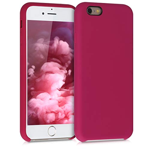 kwmobile Funda Compatible con Apple iPhone 6 / 6S - Carcasa de TPU para móvil - Cover Trasero en Rojo Granada