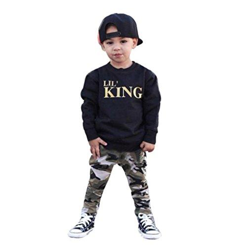Pantalones Ropa Conjunto para 1-7 a/ños K-youth/® Ropa Ni/ños Dinosaurio Huesos patr/ón Camiseta Manga Larga