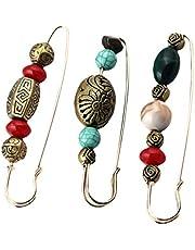 VALICLUD 3 Pezzi Spilla da Balia con Colletto Decorativo Spilla Vintage con Perline Cardigan Spille da Maglione Grande Spilla con Scialle per Le Donne Ragazze