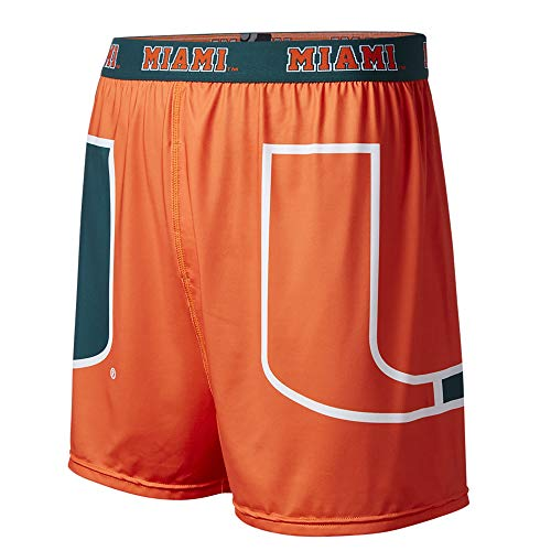 FANDEMICS Herren Boxershorts NCAA, Herren, MA12MIA-S, Boxers - großes Logo, Men's Small (28-30)