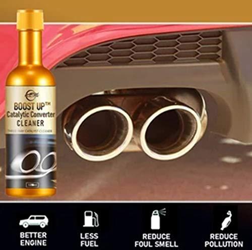 Eariy 120 ml Catalytic Converter Cleaner Engine Booster Cleaner, catalizador limpiador para gasolina, diésel, híbrido y Flex-Fuel-Fuel-Fuel, limpiador para motor catalizador Booster