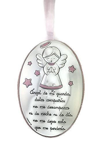 DEAM Medalla DE Cuna BILAMINADA EN Plata 3092R (Angelito Rosa)