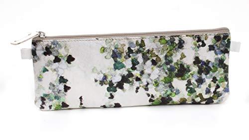 Clairefontaine 115523C Schlampermäppchen Hedera, aus Kunstleder, flach, 22 x 1 x 8cm, mit Stoff gefüttert, 1 Stück