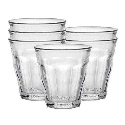 DURALEX 1026AB06 / 6 Vidrio de agua Picardie sin marca de llenado, 220 ml, paquete de 6