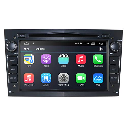 Autoradio 2 Din con sistema operativo Android 10 touch screen capacitivo da 7 pollici Sistema multimediale per OPEL Antara Astra H Meriva Supporto Mirror-link Bluetooth WiFi 4G GPS RDS SWC DSP (nero)