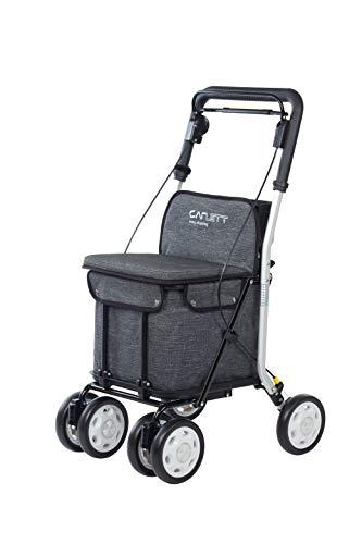 Carlett Carro DE LA Compra-Andador Lett 800 con Asiento, Coleccion 2020, Gris TXT, Grey,