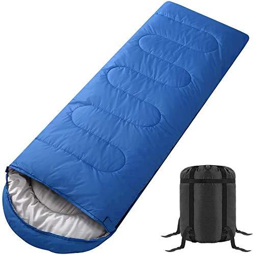 ブルーカラーの寝袋