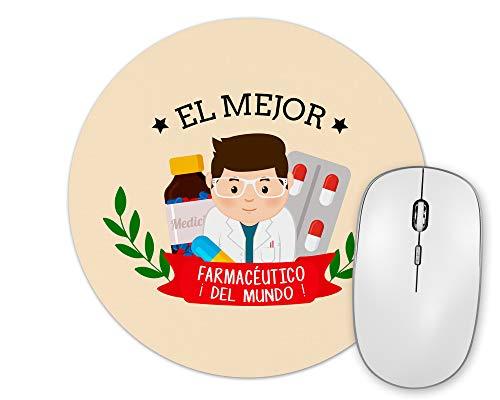 Planetacase Alfombrilla De Ratón El Mejor Farmacéutico del Mundo Regalo Original Farmacéuticos Forma Redonda 20 Cm